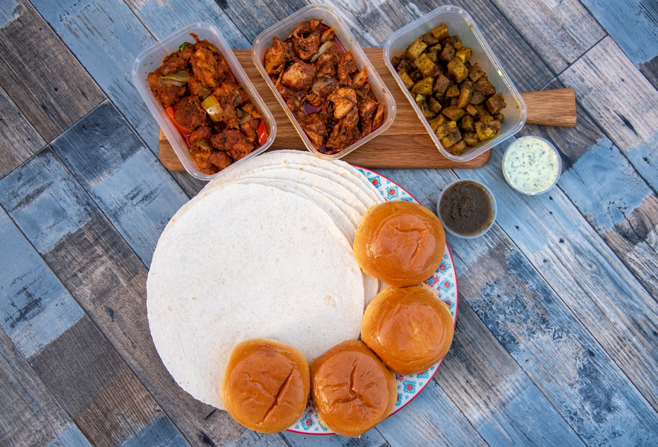 indian food delivery, Mealfor2 wraps brioche