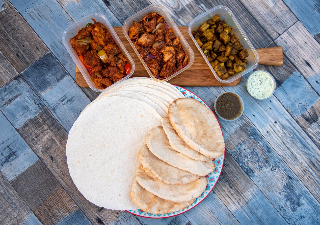 indian food delivery, Mealfor2 wraps pita